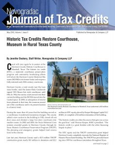Journal of Tax Credits - Harrison Courthouse - KMC Tax Credits Project