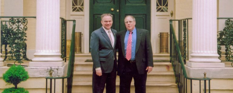 Bob Kasper with Gov. Tim Kaine
